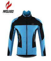 ARSUXEO Men S Winter Thermal Fleece Windproof Cycling Jacket MTB Bike Bicycle Clothing Sportswear Coat Sport