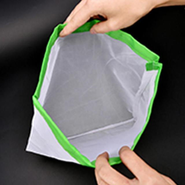 DCOS 5PCS/Set Polyester Washable Reusable Produce Bags, Eco-friendly Soft Premium Lightweight Vegetable Drawstring Storage Net 6