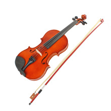 Astonvilla Natural Acoustic 4/4 Full Size Violin with Original Case & Bow & Rosin for Violin Beginner