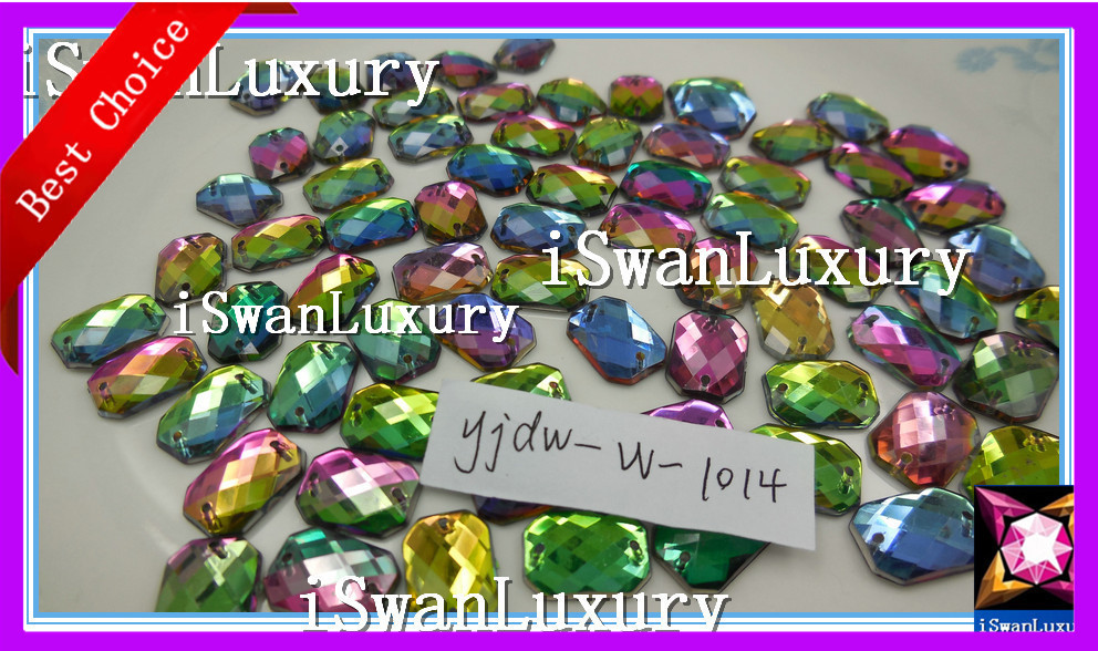 Multicolour 25mm Sew On Stitch JEWEL GEM CRYSTAL RHINESTONE Bead Crystal DANCE