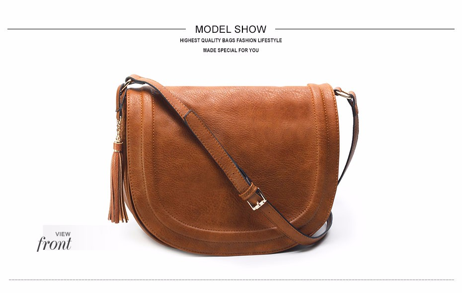 AMELIE GALANTI casual crossbody bag soft cover solid saddle fashion women messenger bags high quality shoulder bag for women   (9)