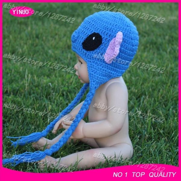 51f8cba58da Australia hot sale Lilo   Stitch baby crochet hat   baby crochet photography    crochet goat hats   crochet animal hat wholesale -in Hats   Caps from  Mother ...