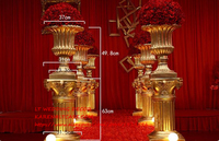 Aureate Resin Roman Column Wedding Lead Glass Fiber Reinforced Plastic Flower POTS Wedding Runway Road Flower