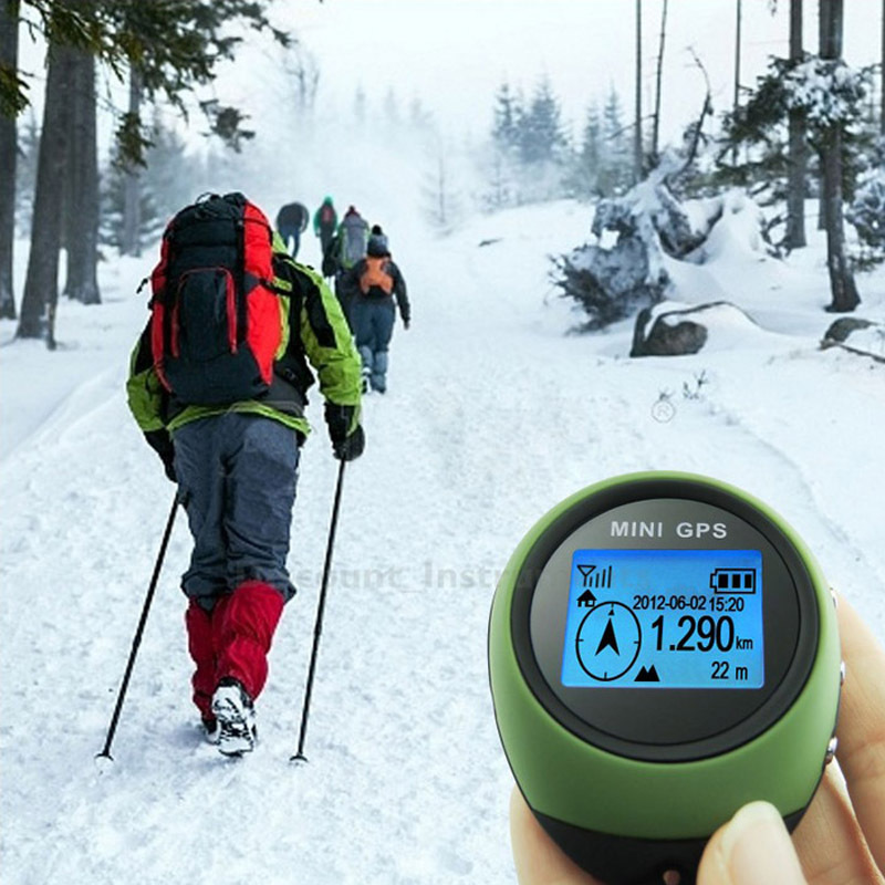 Mini GPS Receiver Navigation Tracker Handheld Location Finder Tracking With Compass For Outdoor Sport Travel