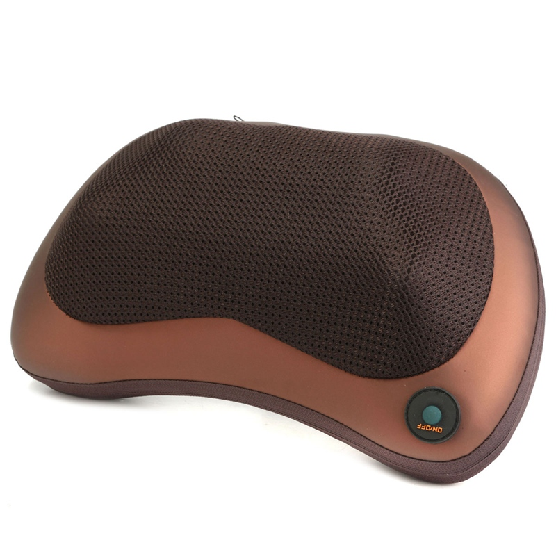 1Pcs Multifunction Deep Relax Massage Pillow Electric Massager Heat Neck Back Shoulder Cushion Home Car Massage Health Care