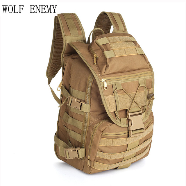 40L Táticas Militares Backpack Pacote 800D X7 Multifuncional Oxford Saco homens e mulheres de Equitação Ao Ar Livre à prova d' água