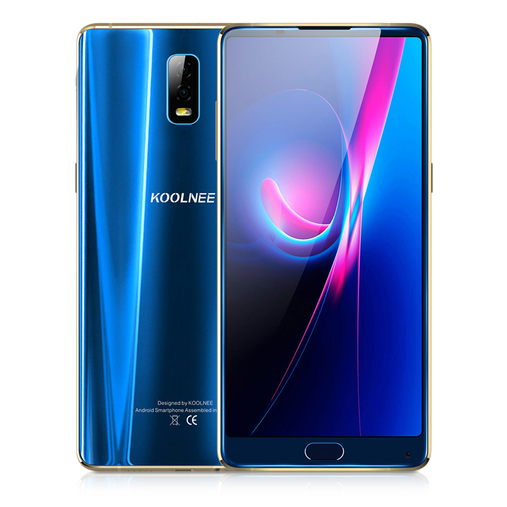 KOOLNEE K1 Trio 4G Phablet 6.01 Android 7.1 MTK6763 Octa Core 2.0GHz 6GB+128GB 16.0MP Dual Rear Cameras Fingerprint Face ID