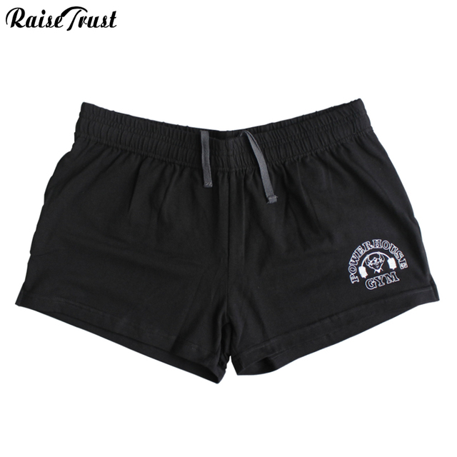 men's shorts with Gold & powerhouse, fitness & bodybuilding & workout shorts,100%cotton high quality musculation fitness men