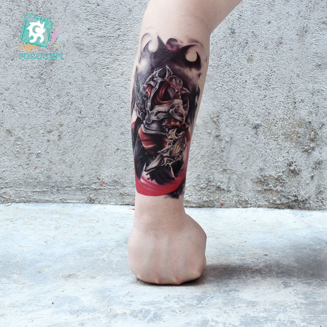 New Arrival 2018 Big Arm Tattoo Designs With Wolf Horse Unicorn Body