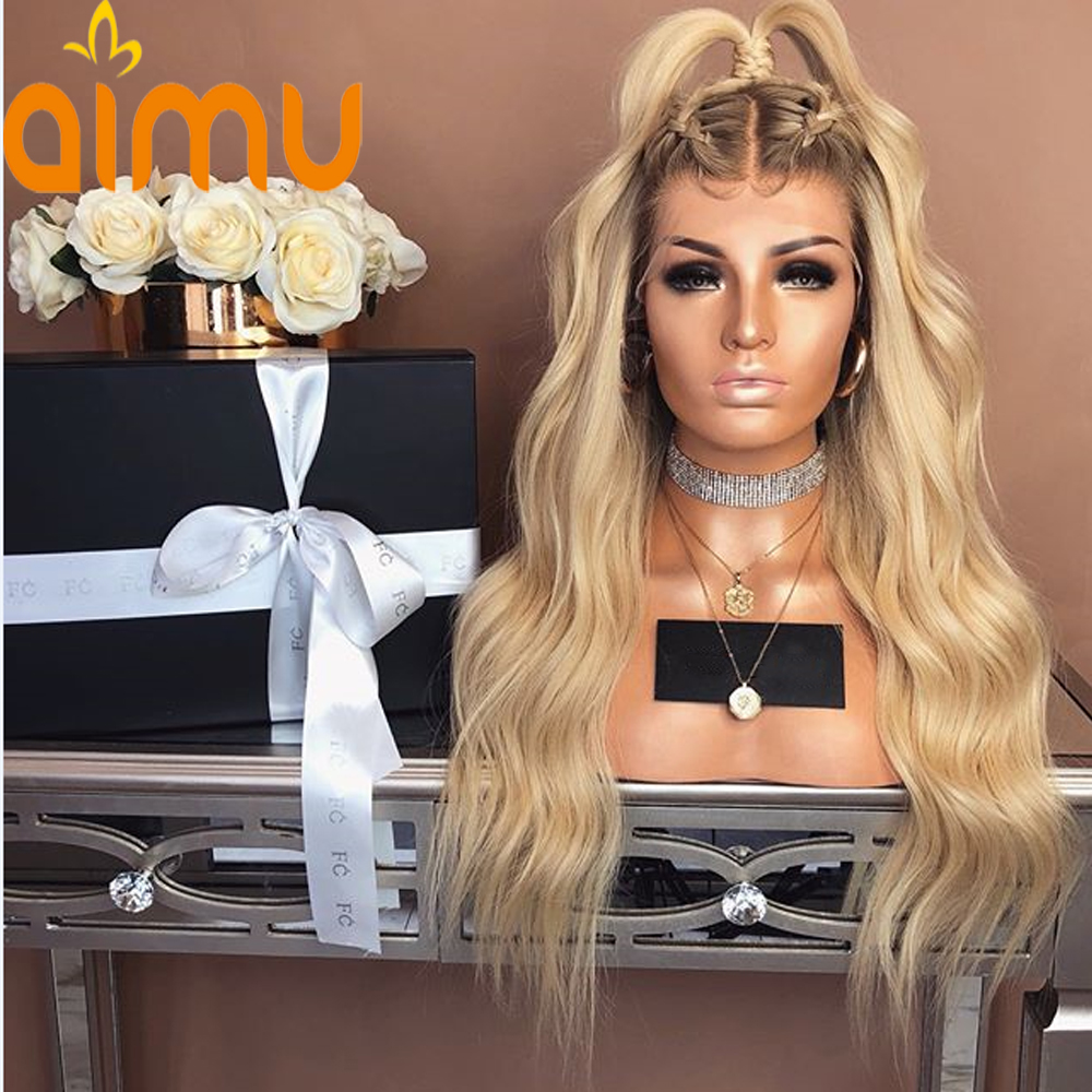 Wigs Human-Hair Full-Lace Blonde Black-Women 613 with 150/Density/Brazilian/Remy Ombre