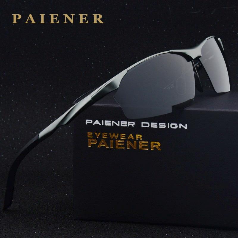 259e66bf68 Nueva Marca HD gafas De Sol polarizadas aluminio magnesio espejo hombres  deporte gafas De conducción Oculos