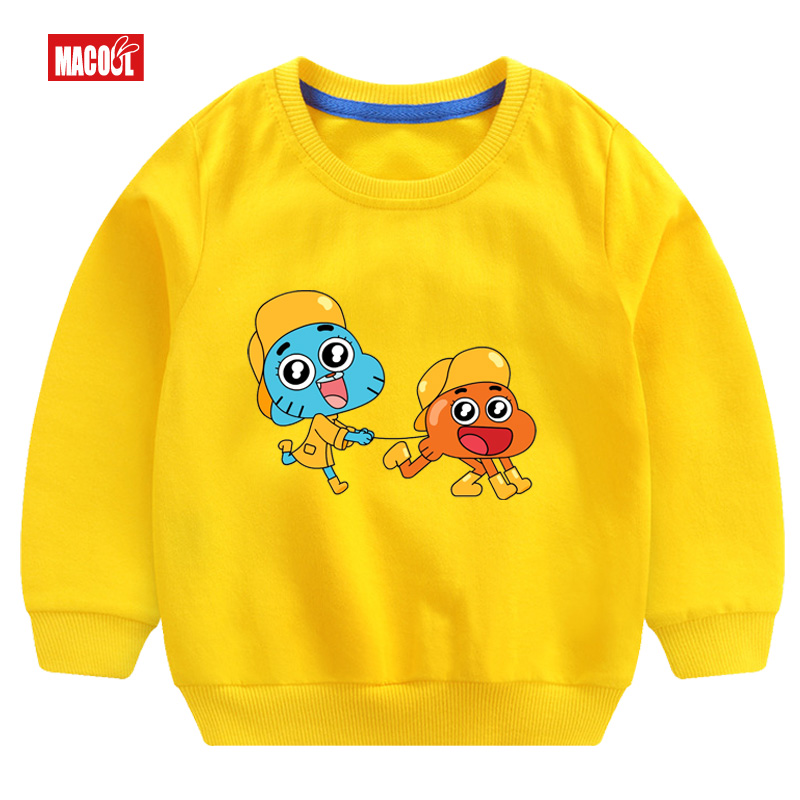 Hot Selling Fashion Boys Long Sleeve Pullover Tops Play Boy girl Tops Breathable Comfort T Shirt Funny Long Sleeve Pullover in Hoodies Sweatshirts from Mother Kids