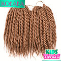 10''Synthetic Crochet Braids Light Brown Havana Mambo Twist Crochet Braid Hair for Kids Senegalese Twist Braiding Hair Extension