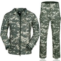 Camouflage Hunting Clothes Shark Skin Soft Shell Lurkers Tad V 4 0 Outdoor Tactical Military Fleece