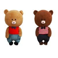 1Pcs Cartoon Doodle Bear Plush Toy Doll Cute Animal Toy Doll Children's Sleeping Toys Sofa Pillow Holiday Gift 50cm