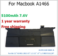 "5100MAh Genuine Original Laptop Battery for Macbook Air 11"" A1465 2013 i5"" 1.3 i7"" 1.7 MD711LL/A* A1495 020-8084-A for Apple"