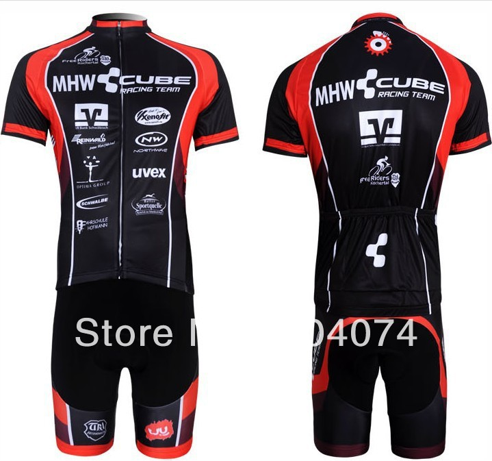 2013 Pro HQ!!! CUBE #2 short sleeve cycling jersey wear clothes bicycle/bike/riding jersey+pants shorts arsuxeo breathable sports cycling riding shorts riding pants underwear shorts