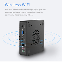 Portable Fanless Mini PC with Wireless Wi-Fi