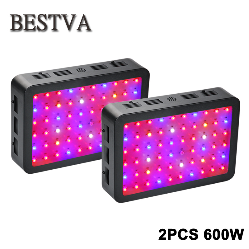 2pcs/lot led grow light 600W full spectrum led grow light for indoor plants led grow light greenhouse Hydroponic Plants Veg grow термобелье верх поддевка nike core comp ss top yth sp15 522801 010 s l чёрный