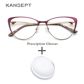 e9b62e4ca580e Mulheres de metal Prescrição Cat eye Glasses Quadros Mulheres Roxo Óculos  Vintage Miopia Óptico Armação de Óculos de Alta Qualidade