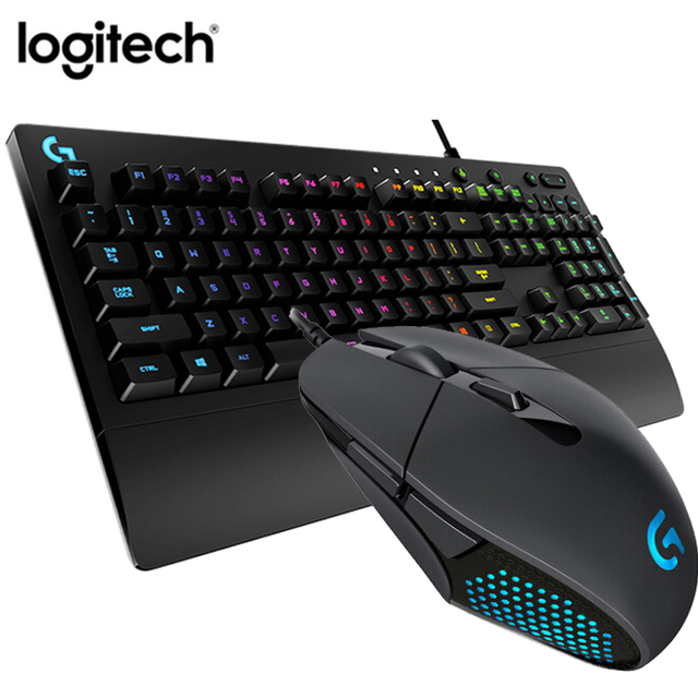 US $79 51 |Original Logitech G302 Mouse, Logitech G213 Gaming keyboard and  mouse Combo , RGB Backlight Game Keyboard klavye tastatur mause -in