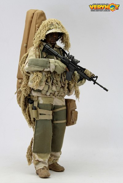 Collectible 1/6 VH Veryhot Toys 1:6 Scale Mannequin Sniper Ghillie Swimsuit Clothes Equipment For 12″ Motion Determine Children Toys Reward I