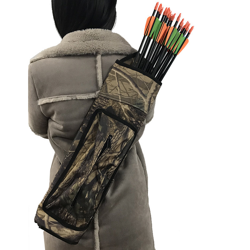 1pc Archery Bow And Arrow Shoulder Arrow Quiver Pouch Arrow Bow Holder Camo Arrow Holder Hunting Accessories dmar archery quiver recurve bow bag arrow holder black high class portable hunting achery accessories