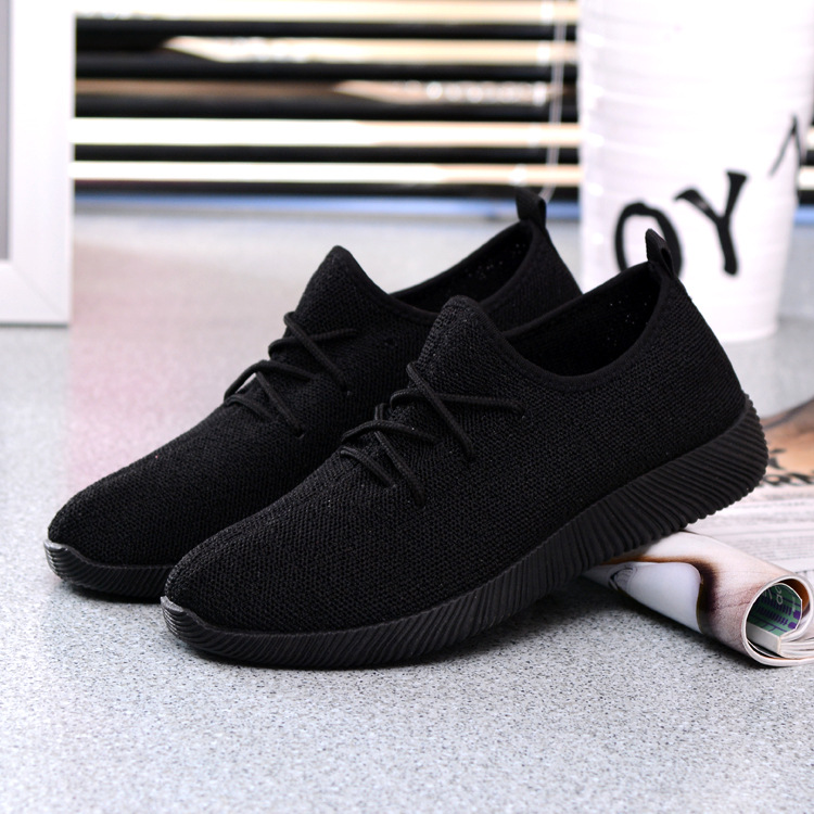 Solid Women Sneakers Platform Shoes Breathable Summer 2018 New Casual Lightweight Shoes Slip on Flats Black Net Shoes Female Hot new women s vulcanize shoes spring summer slip on sneakers black casual shoes women breathable hollow out woman sneakers
