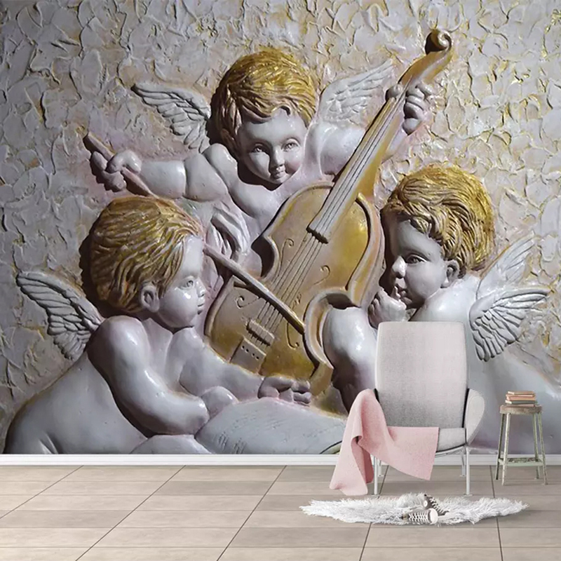 3D Wallpaper European Style Stereo Angel Photo Wall Mural Living Room Kids Bedroom Background Wall Covering 3 D Papel De Parede