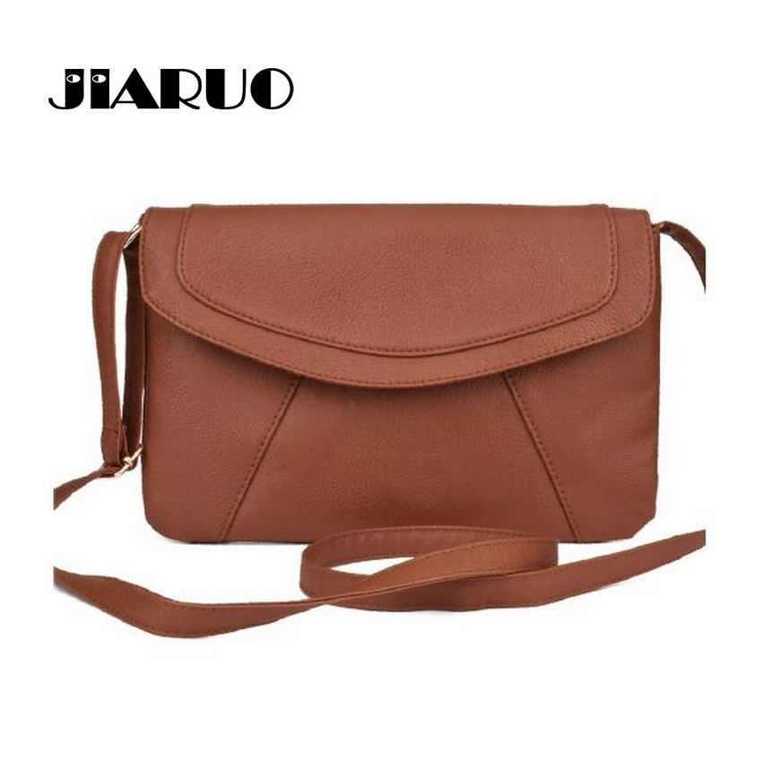 JIARUO PU leather Women Envelope Messenger bags Slim Crossbody Shoulder bags Han