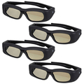 Top Deals 4X Rechargeable 3D IR Active shutter Glasses for LG/Sony/Samsung TV Universal