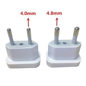 Image 2 - 1pcs US To EU Euro Europe Plug Power Plug Converter Travel Adapter US to EU Adapter Electrical Socket