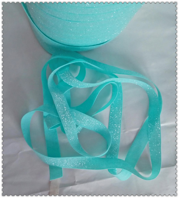 "High Quality 3//8/"" TEAL Sparkle Metallic Glitter Velvet Hair Bow Craft Ribbon"