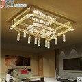 M Rechteck Kristall Deckenleuchte L120 * W80cm Vertraglich Und Zeitgenössische Luxus Atmosphäre Absorbieren Deckenleuchte LED Blase Spalte-in Deckenleuchten aus Licht & Beleuchtung bei