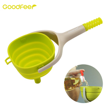 Goodfeer Multi Purpose Silicone Funnel Foldable Quick Transferring Bottle & Flask Spill-free Kitchen Cooking Accessories