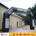 8.6 m negro artículos inflables arco arco de línea de salida para la competición de Carreras para eventos comerciales BG-A0310 juguete
