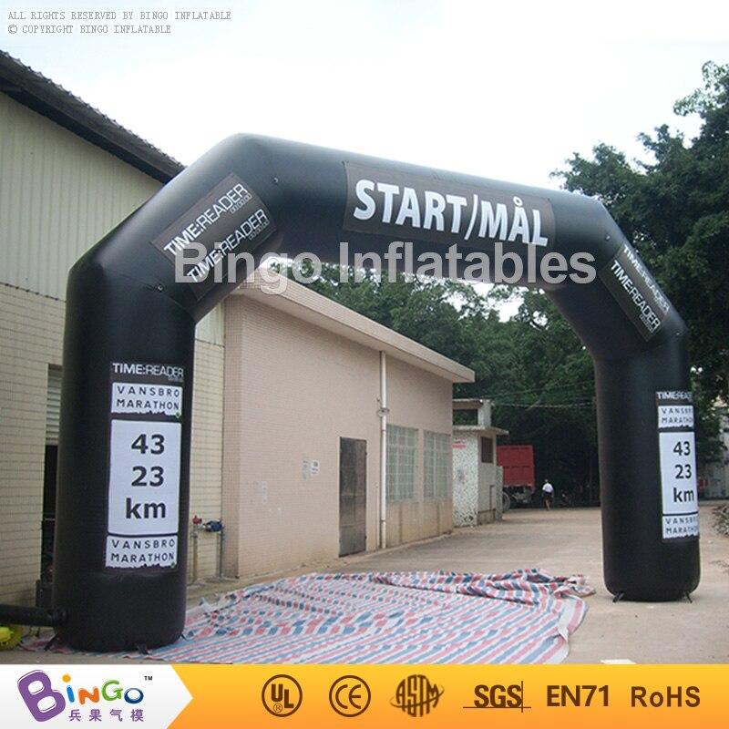 Arc de ligne de départ gonflable sportive noire de 8.6 m pour l'arche de compétition de course pour le jouet de BG-A0310 d'événements commerciaux