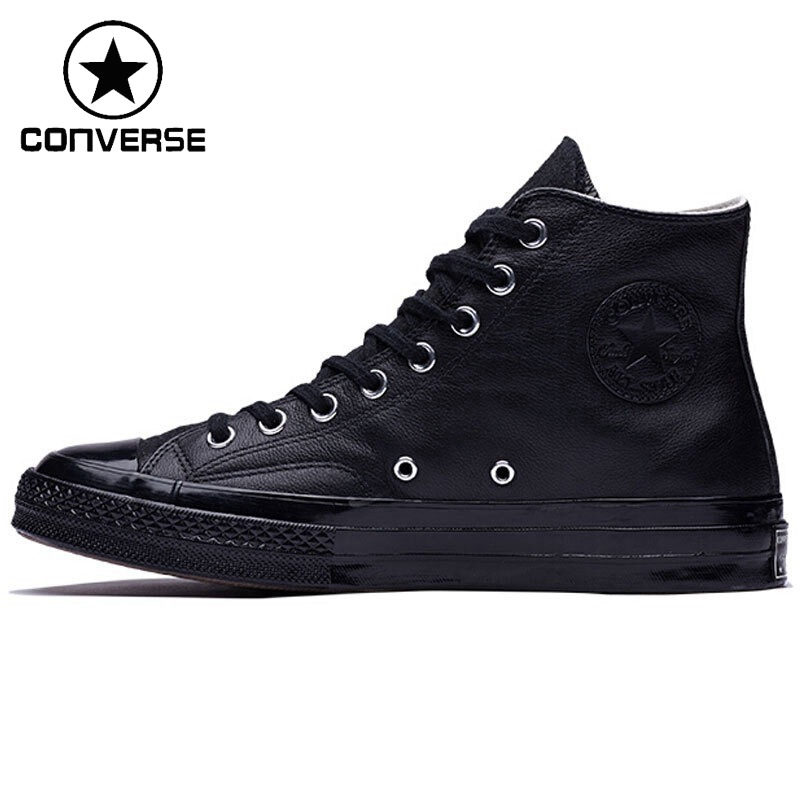 Original Nouvelle Arrivée 2018 Converse Unisexe Planche À Roulettes Chaussures high top Toile Sneakers