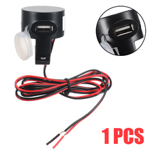1PC USB 12V Motorcycle Mobile Phone Power Supply Socket Charger Waterproof For 5V Digital Devices Mini-Speakers Tablets power management in mobile devices