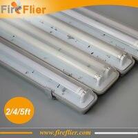 Free Shipping 12pcs/lot IP65 120cm 4ft double led tubes lighting fixture 2*18w 1.2m 1200mm waterproof tubes G13 base tube lamp