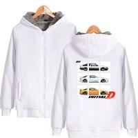 lnlitial D Hip Hop Casual cool Popular basic Parkas Zipper Streetwear Keep Warm oversized Parkas Kpop