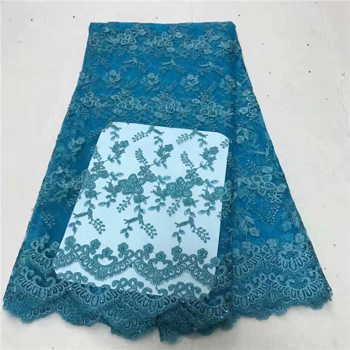 Toptan son swiss dantel kumaş yüksek kalite afrika tül dantel kumaş Kraliyet Mavi rhinestone nijeryalı mor dantel kumaş