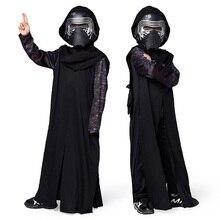 Star Wars Cos Costume Lun Warrior Kylo Ren/Ben Solo Black War Fantasy Cosplay Comic Movie Carnival Party Purim Halloween