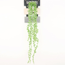 Artificial Succulent Plants Green Leaf Garland Vine Fake Foliage Flowers Home Decor Plastic Flower Rattan String