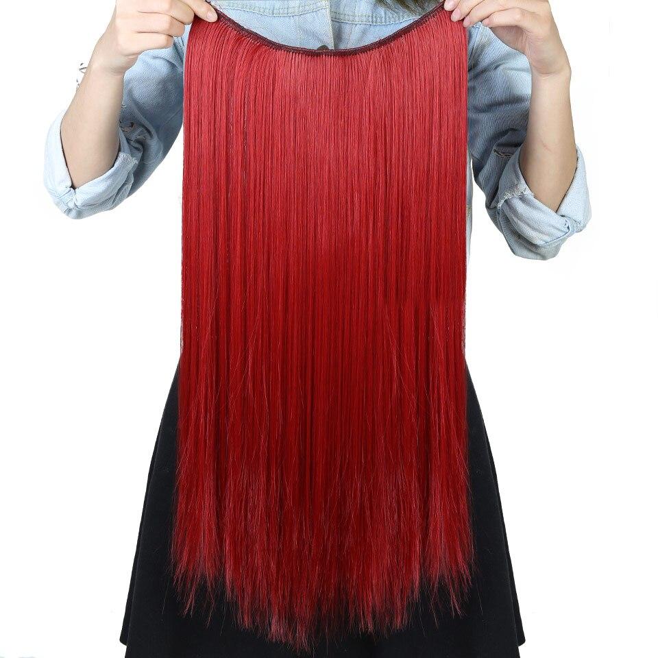 AOSIWIG 24-tums lång vågig klämma i hårförlängningar 5 clips en - Syntetiskt hår - Foto 5