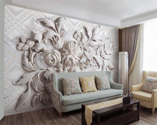 beibehang 2017 new papel de parede 3d wallpaper simple wall paper beautiful European embossed bedroom restaurant background