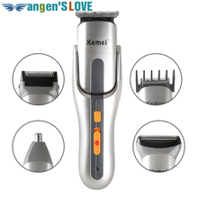 Kemei KM 680A 5 In 1 Electric Hair Trimmer Nose Ear Head Rechargeable Shaver Razor Cordless