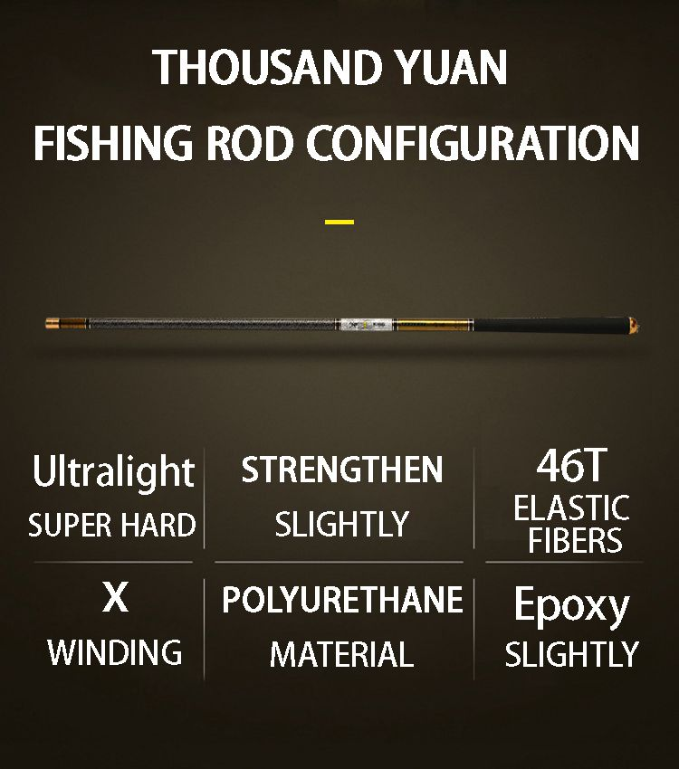 Telescopic Fishing Rod with High Quality Carbon Fiber Suitable Catching Large Fishes during Travel 7