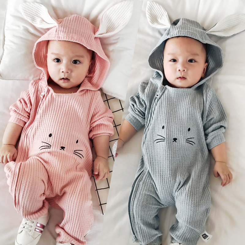 3D Long Ear Rabbit Baby Rompers Clothes Long Sleeved Coveralls for Newborns Boys Girls Outfits Baby Clothing for Autumn/Winter cotton baby rompers set newborn clothes baby clothing boys girls cartoon jumpsuits long sleeve overalls coveralls autumn winter