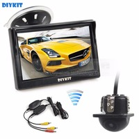 DIYKIT Wireless 5 Inch HD LCD Display Rear View Monitor Car Monitor Mini Car Cam Rear